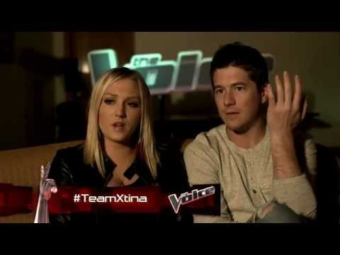 Team Xtina . Reactions to their team mates.