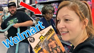 HEEL WIFE LOVES ACTING CRAZY AT WALMART! SHE LOVES NEW NXT FIGURES! MUST SEE REACTIONS!