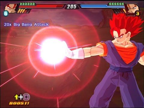 Vegeto SSJ God VS Vegeto SSJ4 (Dragon Ball Z Budokai Tenkaichi 3 Fusion Mod)
