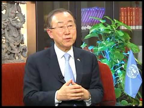 Interview with UN Secretary General Ban Ki Moon