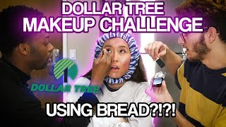 Dollar Tree Make-Up Challenge Using Bread?!