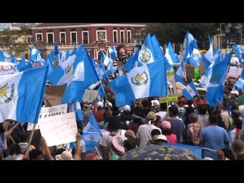 In Guatemala, Protests Threaten to Unseat President, a U.S.-Backed General Implicated in Mass Murder