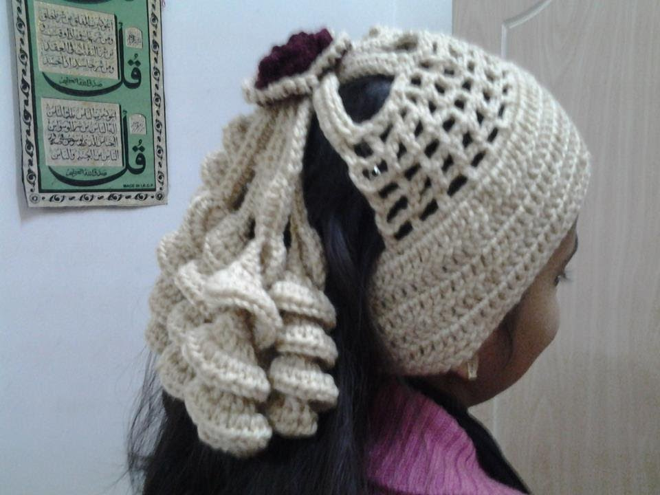 Crochet Ponytail : Crochet Spiral Pony tail Headband-2 - YouTube