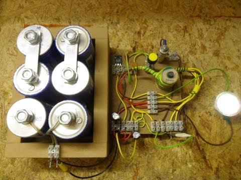 Joule Thief_HF Inverter_Oscillator - Update 1 Modified, efficient, closed loop & 333F cap bank...