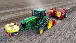 Planting Potatoes | CTF style | John Deere 8520T & Grimme GB 430 belt planter | Klompe