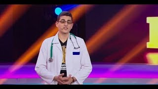 Matei Deleanu, student la Medicină, intrigă juriul prin numărul său de stand up comedy