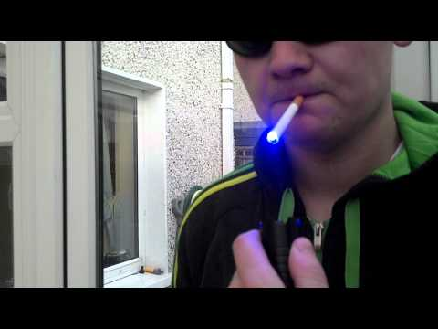 WORLDS MOST POWERFUL LASER LIGHTING A CIGARETTE...S3 Arctic 1w laser