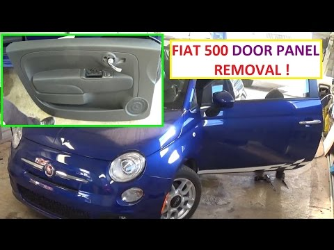 Front Door Panel Removal and Replacement on Fiat 500 2008 2009 2010 2011 2012 2013 2014 2015 2016