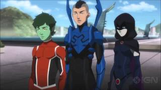 Justice League vs. Teen Titans movie trailers 2016