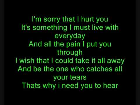 ★Hoobastank★ The Reason ~~►Lyrics