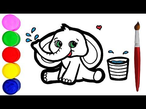 Wie Zeichnet Man ein Baby Elefant für Kinder Malen für Kinder