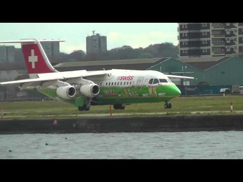 Planes at London City Airport - 28th April 2013