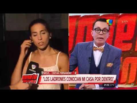 Robo a Cinthia Fernández: ¿De quién desconfía la vedette?