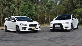 2016 Subaru WRX STI vs Mitsubishi Lancer Evolution X: 0-100km/h, engine sound