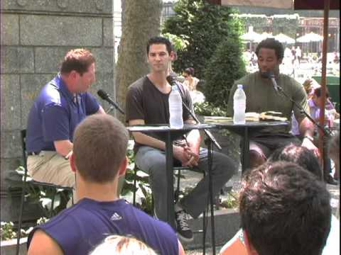 Bryant Park Reading Room, Shawn Green, The Way of Baseball, and Dhani Jones, The Sportsman