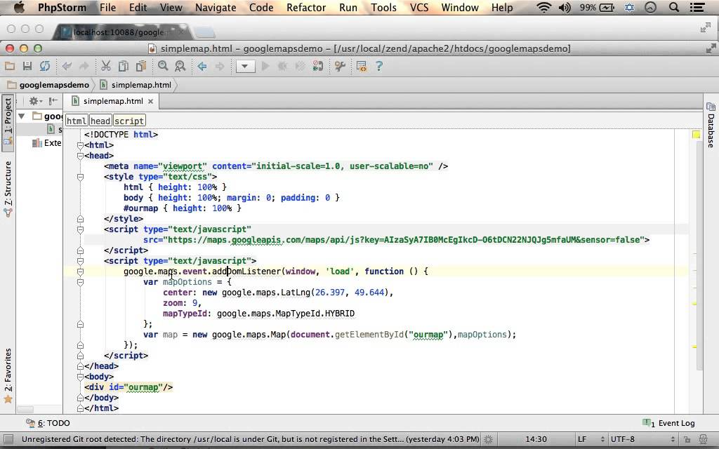 Simple Code Sample For Using Google Maps Javascript Api