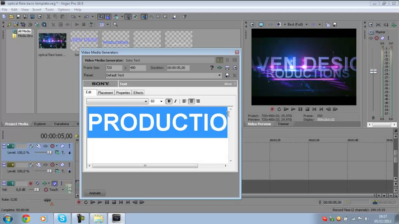 Tutorial su come creare/modificare un intro (TEMPLATE) con