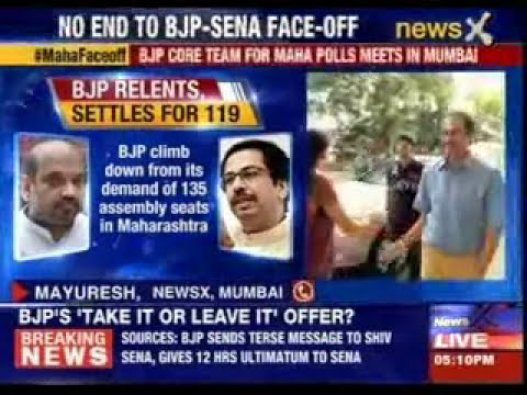 BJP gives Sena a days ultimatum on seat sharing