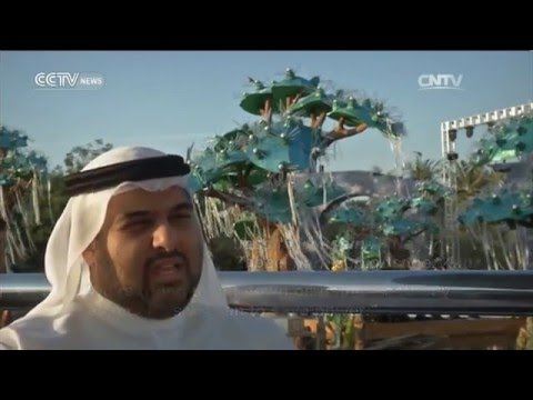 Dubai Glowing Green: Glow in the dark park made from recycled materials