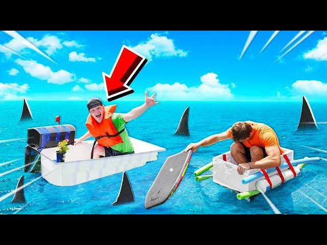 FASTEST BOAT WINS $10,000! BOAT BUILD CHALLENGE thumbnail