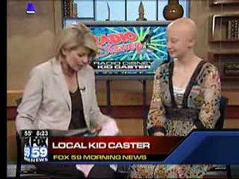OLIVIA RUSK discusses Alopecia on Fox 59, May 2008