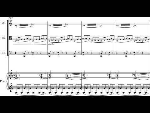 Grey Grant - Drones For the Late Summer for Piano Quartet (2016) [Score-Video]