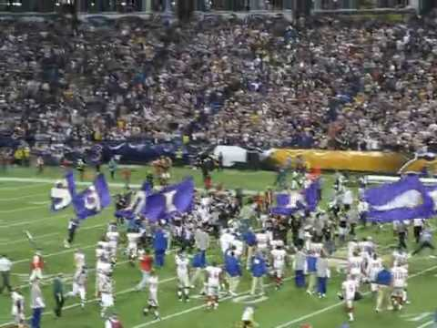Ryan Longwell kicking a game winning field-goal against the Giants on December 28th 2008 to clinch the NFC North division championship.