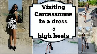 Crossdresser in Carcassonne - summer dress and stiletto high heels t-strap pumps | NatCrys