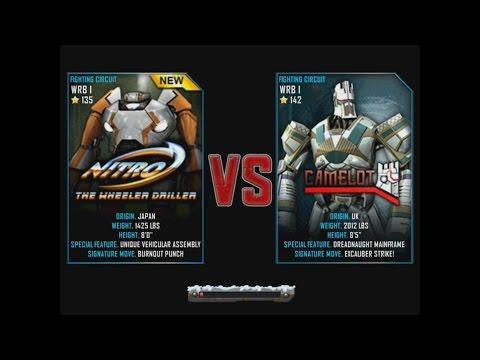 Real Steel WRB NITRO VS Camelot WRB I NEW ROBOT Christmas updating