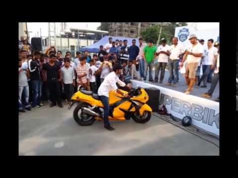 Suzuki Hayabusa Loudest Exhaust Contest. India Superbike Festival 2014 Bangalore.