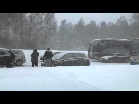 Ужасная цепная авария в Финляндии