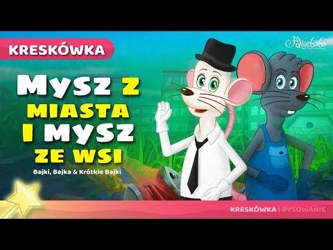 Mysz Z Miasta I Mysz Ze Wsi Bajka Dla Dzieci Po Polsku | Bajki Na Dobranoc
