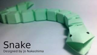 Origami Snake (jo Nakashima) - Modular Version Remake