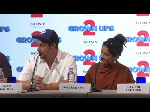 Grown Ups 2 Press Conference - On Taylor Lautner's Experience Working with the Cast