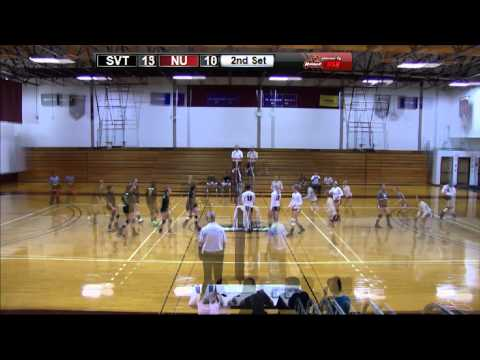 Highlights from Southern Vermont College at Norwich University in Women's Volleyball on 9/24/14.