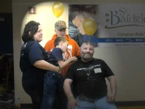 St Baldricks shave event at the Morley Stanwood High School