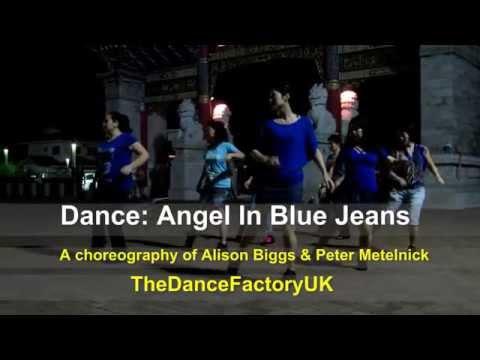 Angel In Blue Jeans ( Alison & Peter ) : Friendship Park Line Dancers  3.9.2014 video