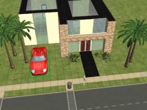 Sims 2 constuyendo casa peque a y moderna parte 1 youtube for Casa moderna 6 parte 2