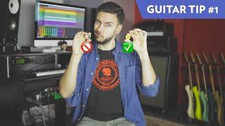 GUITAR TIP #1 - Why I Prefer THINNER Picks!