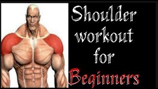 shoulder workout for beginners