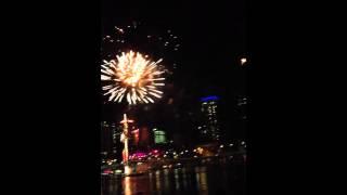 Riverfire 2012 Fireworks in Slow Motion 60fps 1