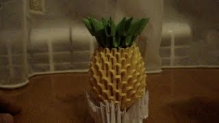 3d Origami Pineapple Tutorial