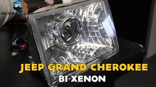 Jeep Grand Cherokee Bi-xenon projector installation