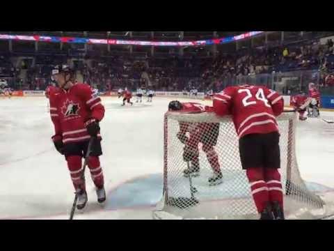 Раскатка сборной Канады