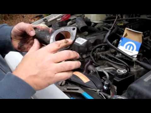 change thermostat  jeep cherokee  inline
