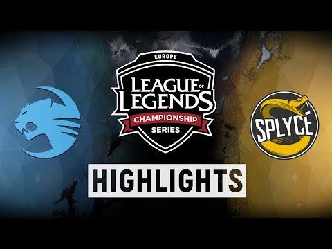 ROC vs. SPY - EU LCS Quarterfinals Day 1 Match Highlights (Spring 2018)