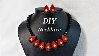 DIY   Easy To Make Polymer Clay Necklace Set | Jewelry Making Tutorial