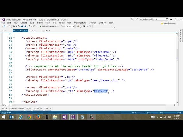 Webvtt video watch hd videos online without registration visual studio add subtitles to your html5 video ccuart Images