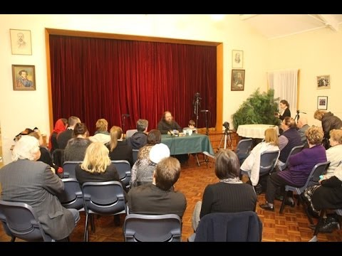 Deacon Andrew Kuraev talk 1,  Church of All Russian Saints, Croydon, Australia, 23-07-13