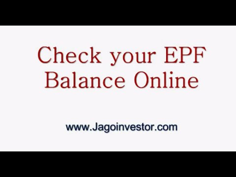 How to check your epf balance online youtube - Balances online roset ...